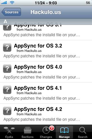 Návod jak instalovat na IOS 4.2.1 cracklé app pomocí AppSync 4.2
